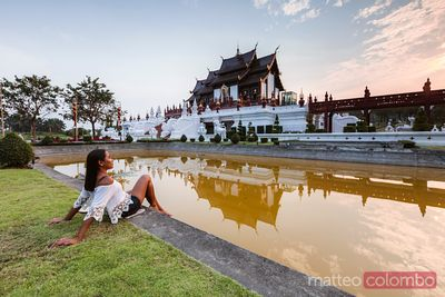 Woman at Royal park Rajapruek, Chiang Mai, Thailand