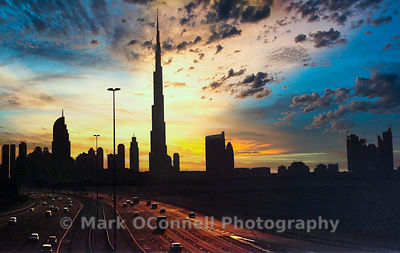burj khalifa view, Dubai, middle east,images,photos,sunset