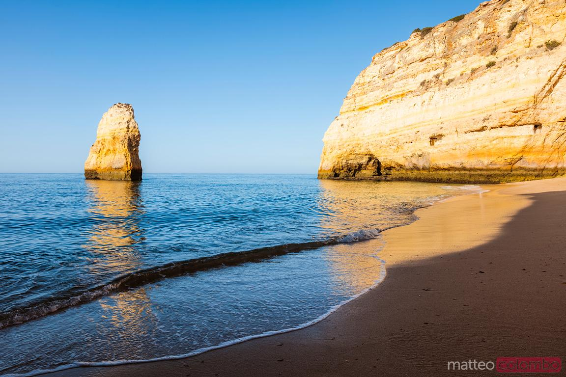 Carvalho beach at sunrise, Faro, Algarve, Portugal