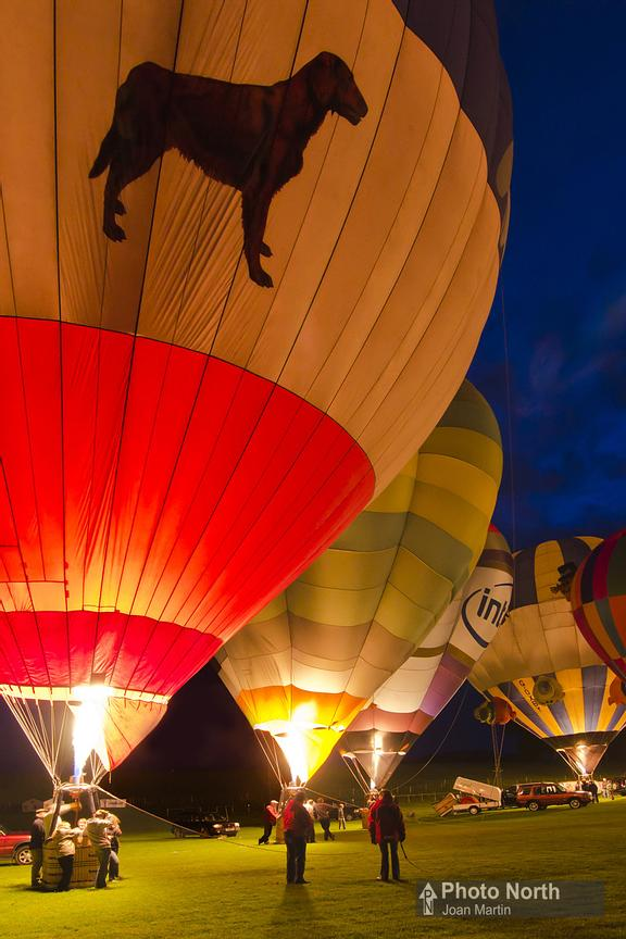 HOT-AIR BALLOONING 26A - Night Glow, Kirkby Lonsdale