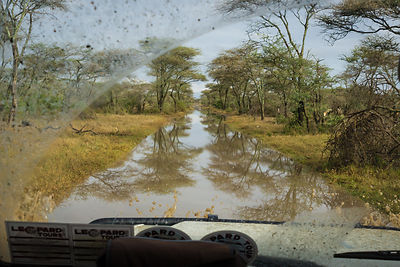Oops ! Roads Flooded In Serengeti - Tanzania 2009