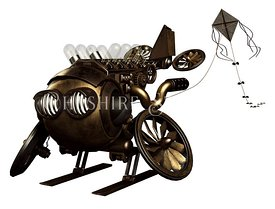 Steampunk Flying Robot