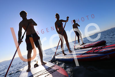 Photo de paddle avec figurants