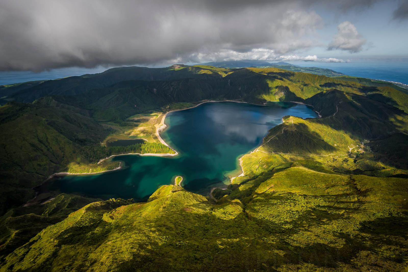 Flying above Lagoa do Fogo