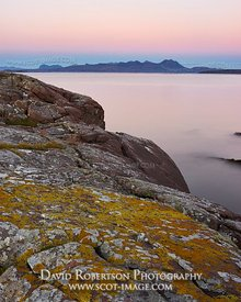 Image - Coigach viewed from Mellon Udrigle, Gruinard Bay, Wester Ross, Highland, Scotland.  At dusk
