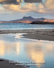 Image - View towards Beinn Ghobhlach from Mellon Udrigle beach, Wester Ross, Highland, Scotland