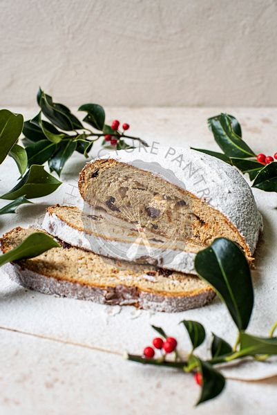 Cranberry, Orange, and Marzipan Stollen