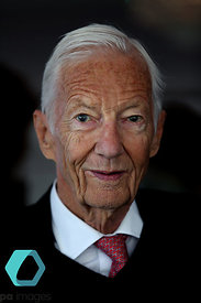Former jockey Lester Piggott during day one of the QIPCO Guineas Festival at Newmarket Racecourse. Photo credit should read: ...