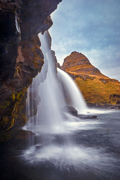 Iceland art for sale | Kirjufellfoss up close