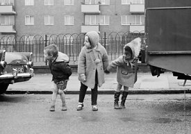 #77323,  Kids learning road safety and how to cross a road, Vittoria Primary School, Islington, London.  1970.