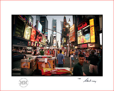 Linited edition wall print  New York, Times Square busy