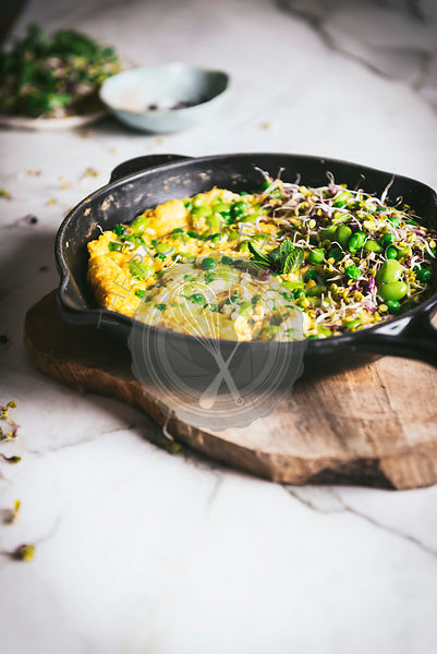 Cheese Frittata in a skillet