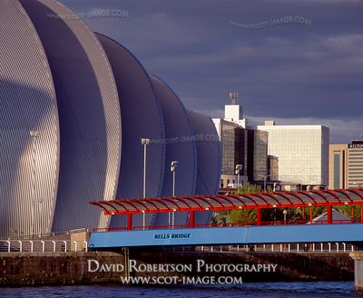 Image - Bell's Bridge and SECC, Armadillo, Glasgow, Scotland