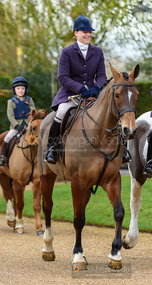 Kat Robinson at the meet. The Cottesmore Hunt at Pickwell 31/12