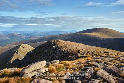 Prints & Stock Image - Cairngorm viewed from Cairn Lochan, Cairngorms National Park, Badenoch and Strathspey, Highland, Scotl...