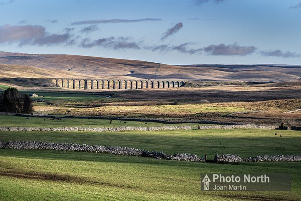 CHAPEL-LE-DALE 01B - Ribblehead Viaduct from the Craven Wold