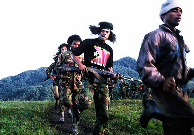 Falintil guerrillas, East Timor, March 1999.
