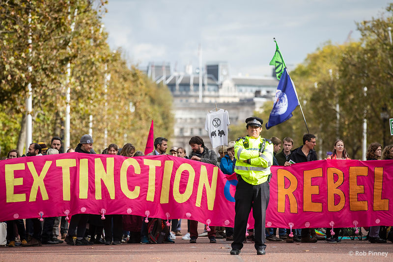 Extinction Rebellion Demonstrations in Westminster