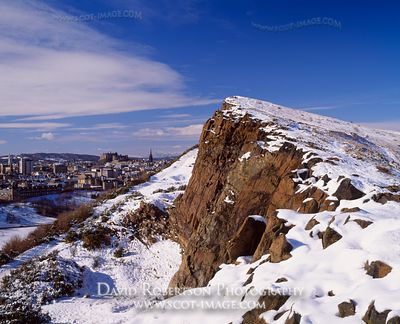 Image - Salisbury Crags and City View, Holyrood Park, Edinburgh, Scotland