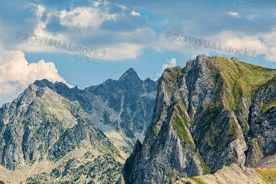 Peaks in Pyrenees Mountains