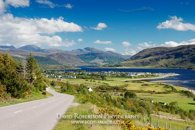 Image - The A835 road and Ullapool, Scotland