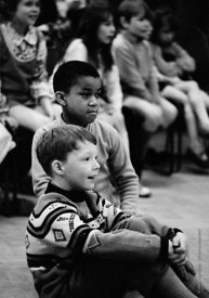 #74757,  Anna Scher Children's Theatre, Bentham Court Hall, Islington, North London 1972.  Kids would come after school and b...