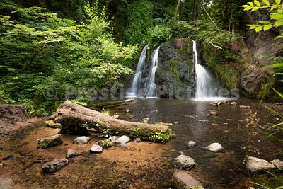 The main Fairy Glen Falls by Rosemarkie at Inverness in Scotland