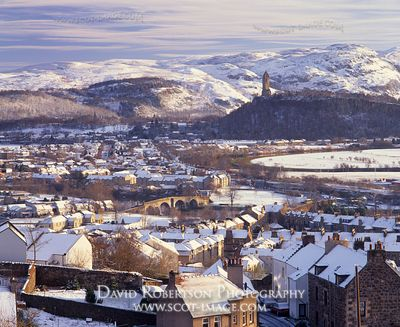 Image - View from Stirling Castle Esplanade, Scotland in Winter