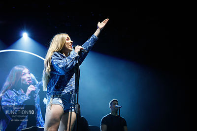 Becky Hill performs in concert at the Resorts World Arena, Birmingham, United Kingdom - 28 Feb 2020