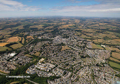 Liskeard Cornwall  UK from the air