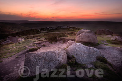 Sunrise in Peak District.