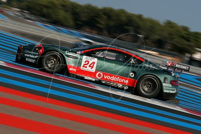 Christian Pescatori (IT) et Miguel Ramos (PT), Matteo Malucelli (IT), Aston Martin DBR9. Aston Martin Racing BMS. Action.