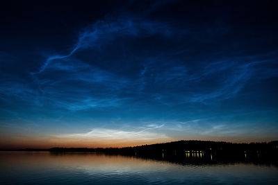 Noctilucent clouds in Southern Finland on July 22 2014.