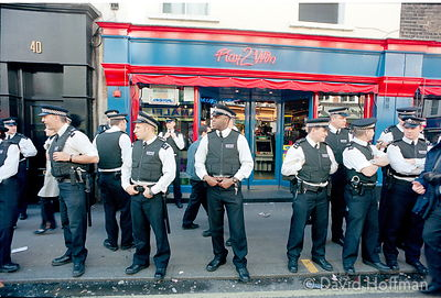 Police, central London Mayday 2002