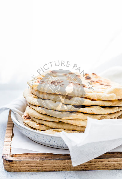 Stack of Six  Flatbreads on a plate