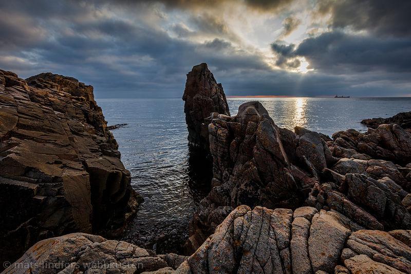 Klippor och hav vid Kullaberg