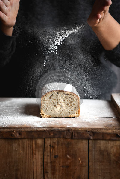 Sourdough Dusted With Flour