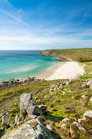Gwynver (Gwenver) Beach, near Sennen, Cornwall - BP6735