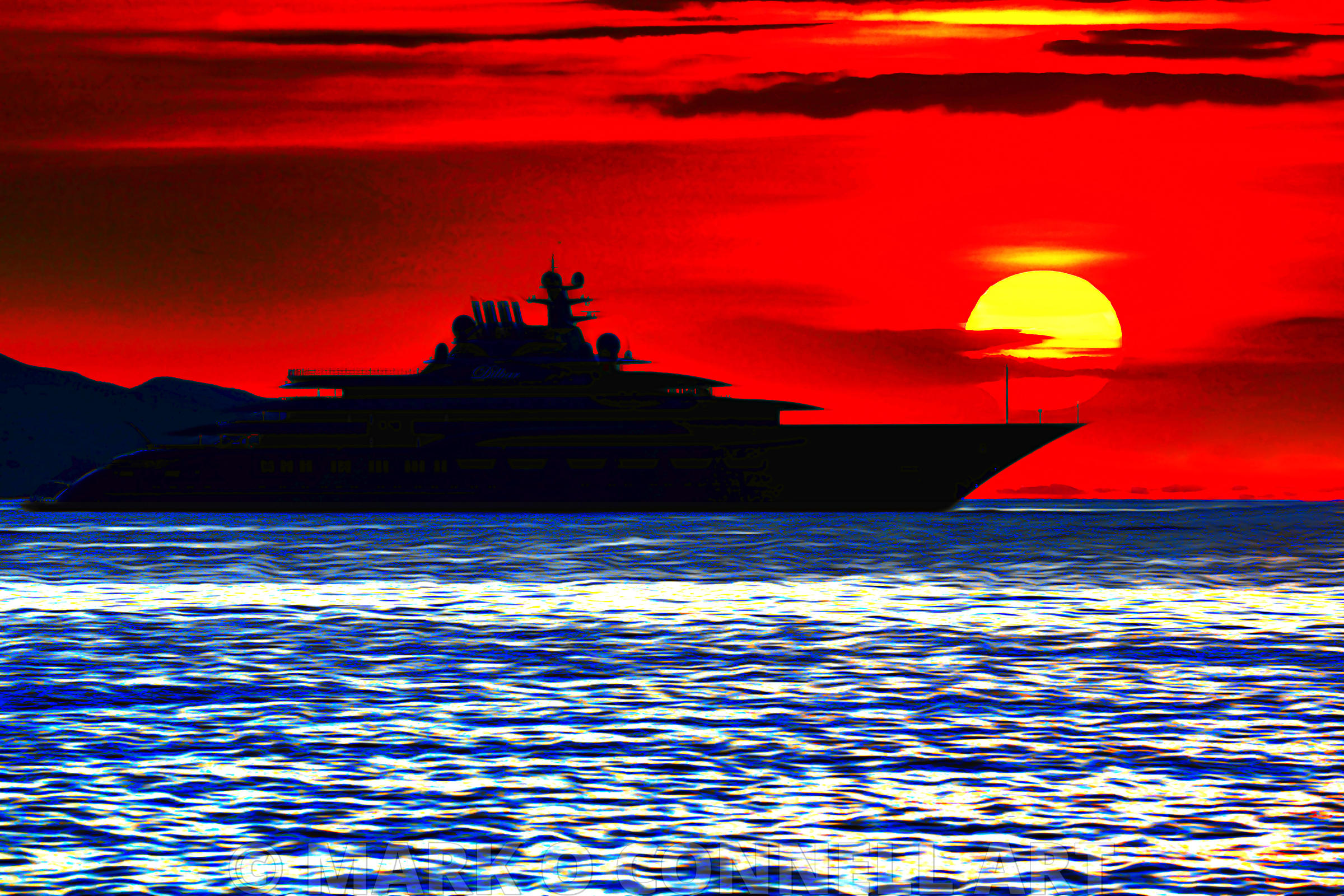 art,painting,airbrush,dilbar,sunset,water,ocean,sea,silhouette