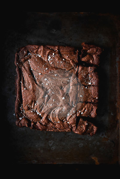Sea salt and brown butter brownies