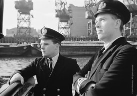 #124424,  HM Customs & Excise officers on the river Thames, London, 1973.