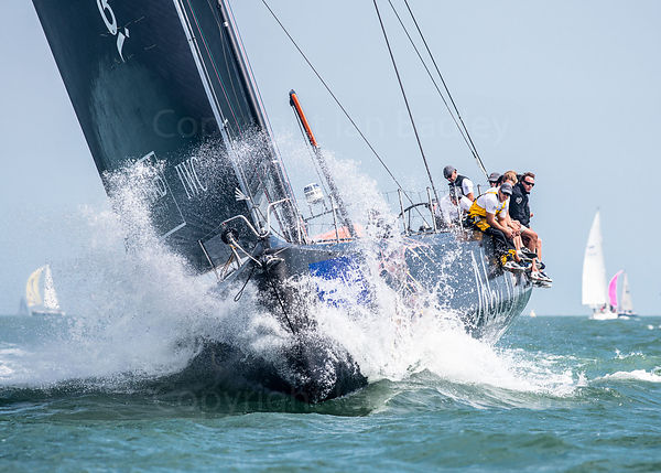 Bow action at Cowes Week