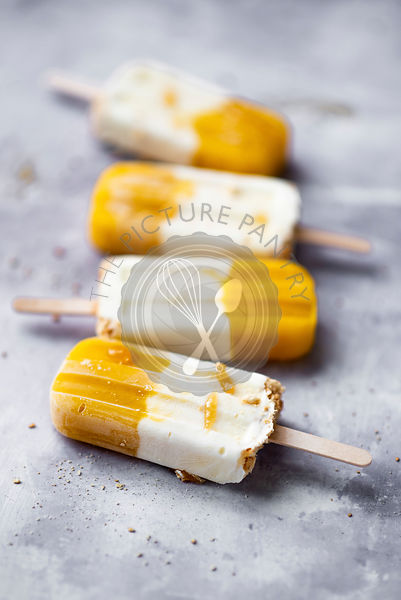 Mango Yoghurt And Honey Cheesecake Popsicles