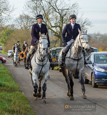 Tiny Clapham, Meghan Healy on Owston Road - The Cottesmore Hunt at Owston 19/11