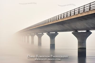 Prints & Stock Image - Clackmannanshire Bridge across the River Forth in foggy weather, Scotland