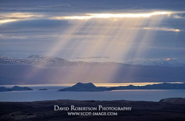 Image - Sunbeams over the Isle of Raasay and The Minch