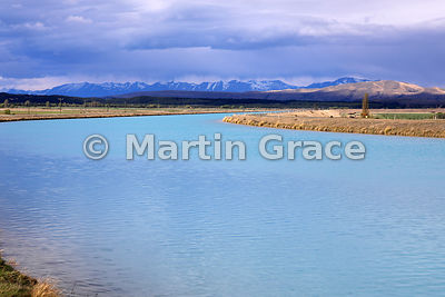 The Tekapo-Pukaki Canal near Twizel, Canterbury, South Island, New Zealand