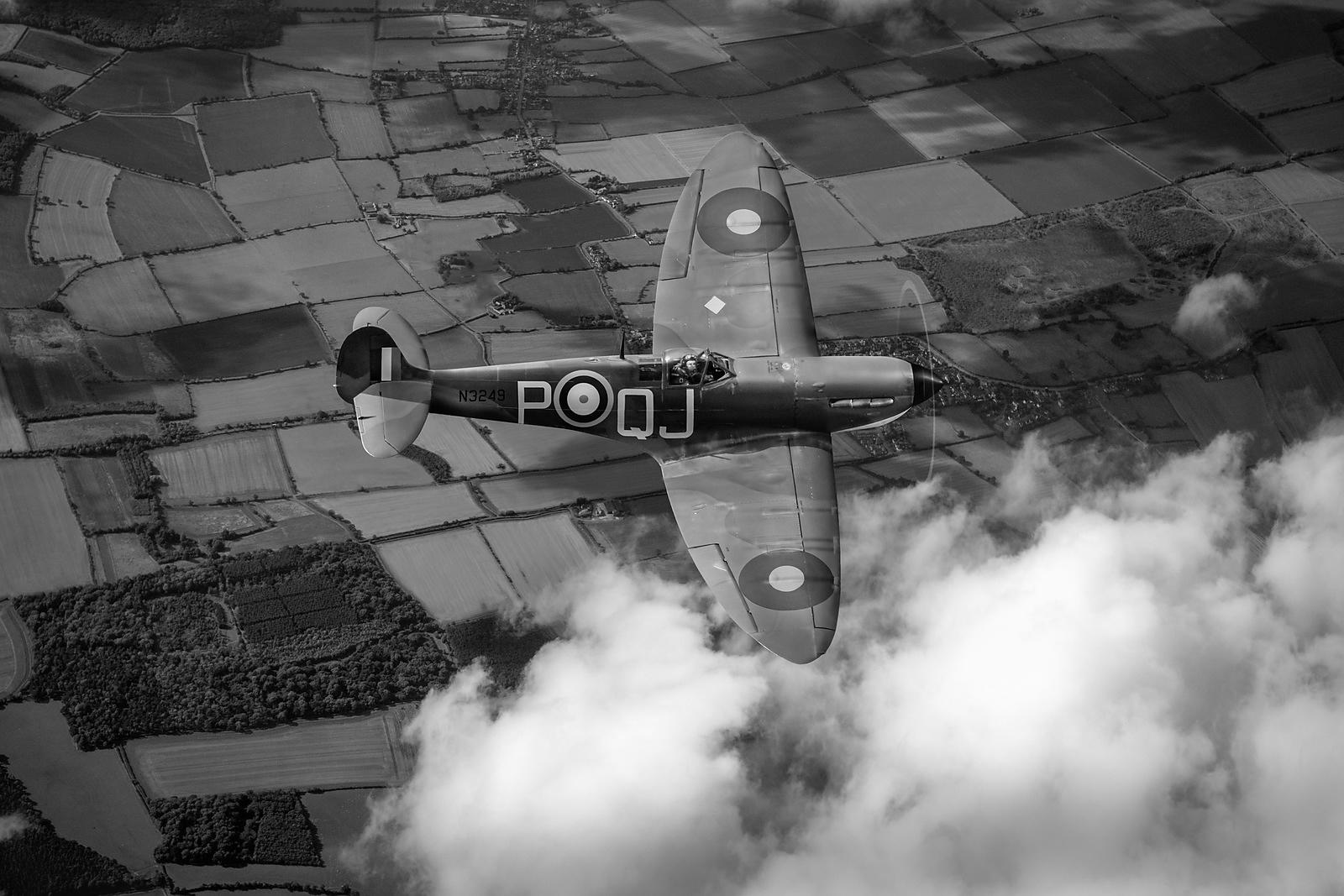 Battle of Britain Spitfire B&W version