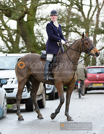 Beanie Sturgis on Pasture Lane. The Beaufort Hunt visit the Quorn at Cream Gorse 13/1