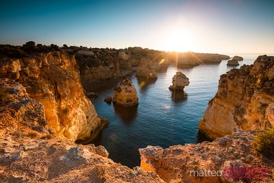 First light over Marinha beach, Algarve, Portugal